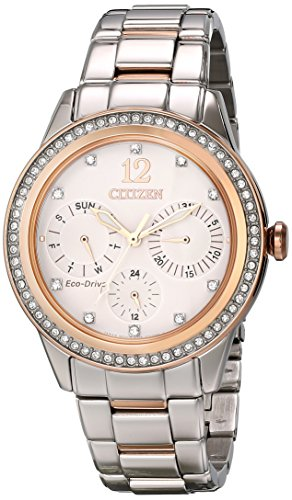 Citizen Women's FD2016-51A Silhouette Crystal Analog Display Japanese Quartz Two Tone Watch