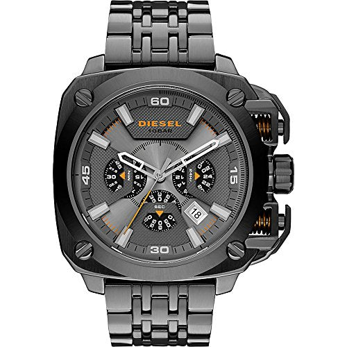 Diesel BAMF Chronograph Grey Dial Grey Ion-Plated Mens Watch DZ7344