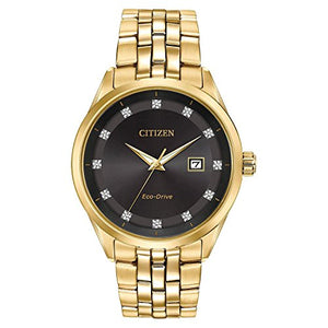 Citizen BM7252-51G Eco-Drive Corso Yellow Gold Diamond Accent Men's Watch