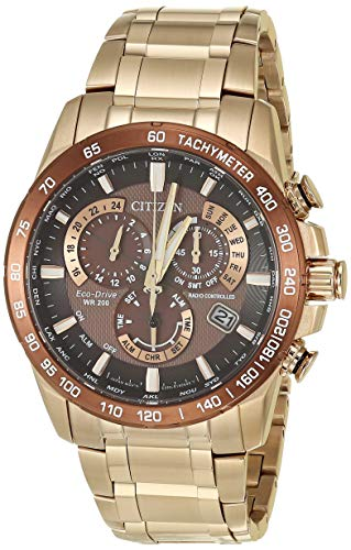 Citizen Men's PCAT Quartz Sport Watch with Stainless Steel Strap, Rose Gold, 22.3 (Model: CB5896-54X)