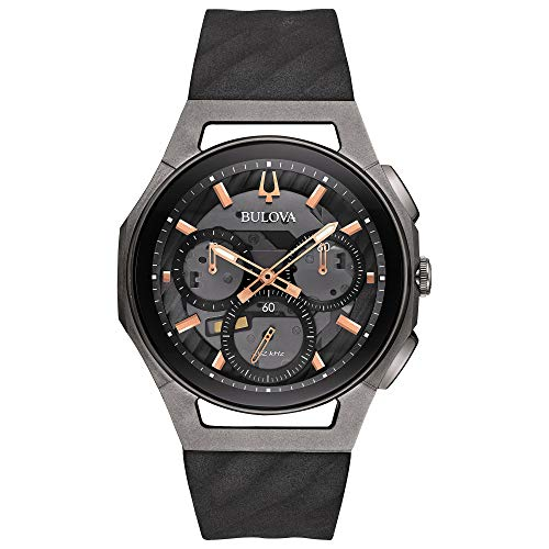 Bulova Men's 98A162 Japanese-Quartz Black Watch