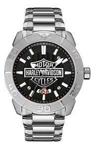 Bulova Men's 76B169 Harley Davidson Japanese-Quartz Black Watch