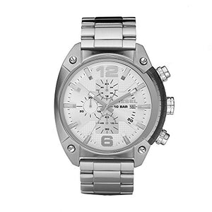 Diesel Men's DZ4203 Overflow Analog Display Analog Quartz Silver Watch