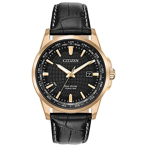 Citizen Men's BX1003-08E World Time Perpetual Calendar Japanese-Quartz Black Watch