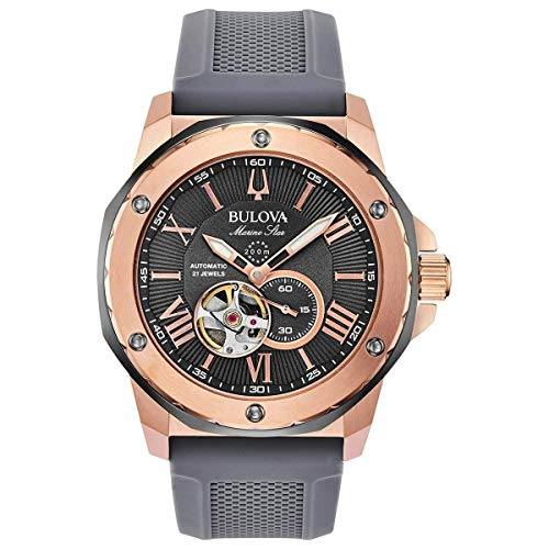Bulova Marine Star Automatic Grey Dial Men's Watch 98A228