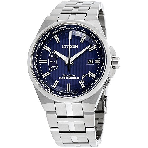 Citizen World Perpetual A-T World Time Blue Dial Mens Watch CB0160-51L