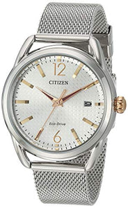 Citizen Women's Drive Japanese-Quartz Watch with Stainless-Steel Strap, Silver, 16.5 (Model: FE6081-51A)