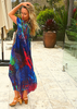 RAINBOW KAFTAN Dark blue