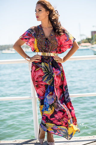 RIO Silk Kaftan - Non see through