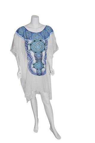 WHITE HAVEN Short Kaftan