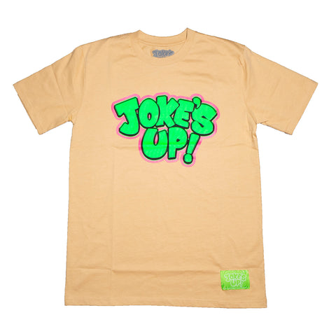 Jokes Up Logo Tee (Tan)