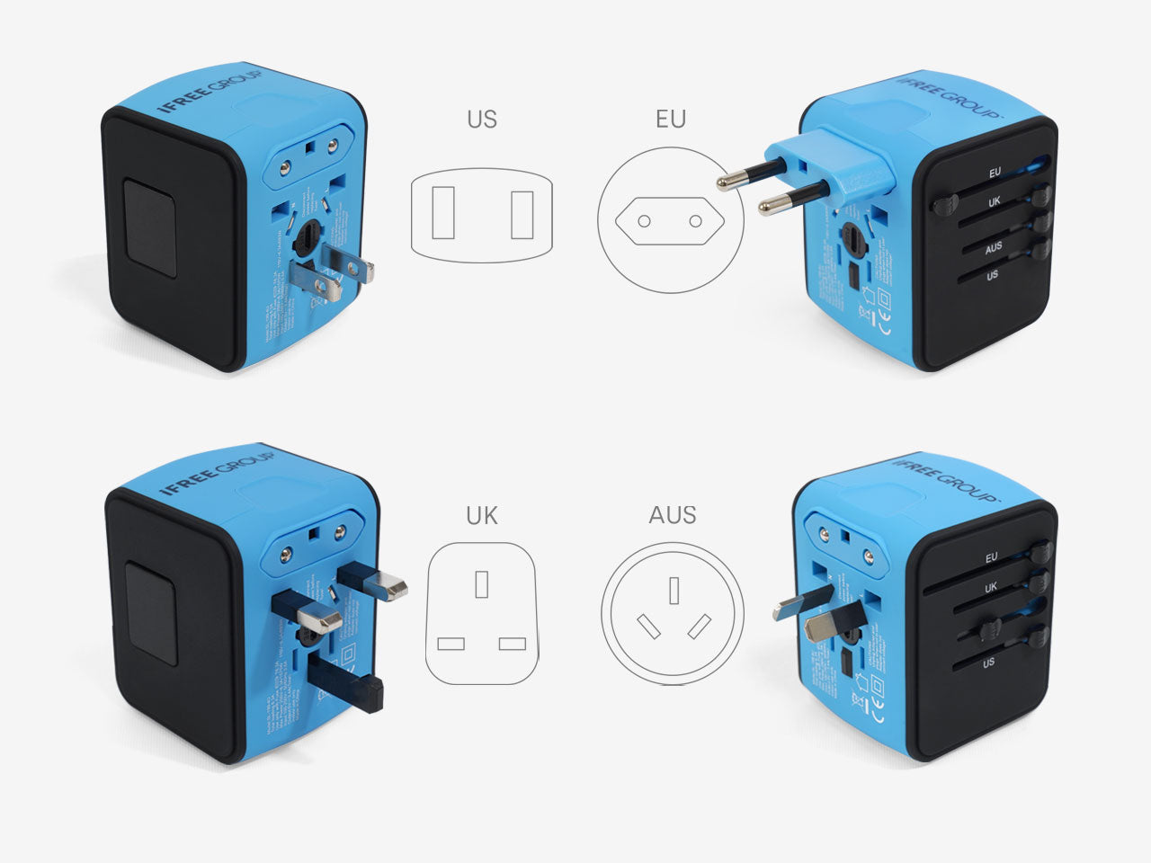 UK/US/EU/AUS plug standard