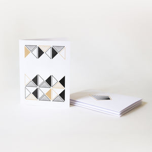 Moonpence x Often Minimal - Geometric II Stationary | Greeting Cards x 4 - Moonpence