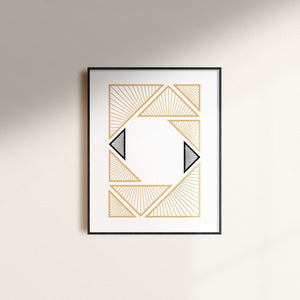 Often Minimal n.445 Geometric Print | Wall Art - Moonpence