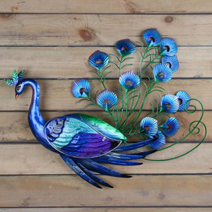 Metal Peacock Wall Artwork for Garden Decoration Outdoor