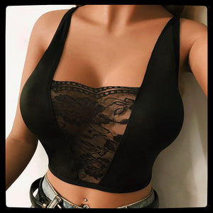 Women Black/White Lace Bra Push Up