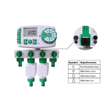 Load image into Gallery viewer, Garden Automatic 4-Zone Irrigation Watering Timer System  Garden Water Timer Including 2 Solenoid Valve