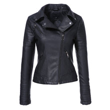 Load image into Gallery viewer, Spring Pu Leather Jacket Women