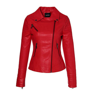 Spring Pu Leather Jacket Women