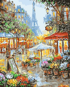 Paint By Numbers Scenery DIY Oil Coloring By Numbers Street Landscape Canvas Paint Art Pictures Home Decor