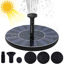 Load image into Gallery viewer, Mini Solar Water Fountain Pool Pond Waterfall Fountain Garden Decoration Outdoor Bird Bath Solar Powered Fountain Floating Water