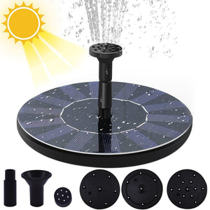 Mini Solar Water Fountain Pool Pond Waterfall Fountain Garden Decoration Outdoor Bird Bath Solar Powered Fountain Floating Water