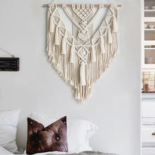 Load image into Gallery viewer, Macrame Wall Hanging Tapestry Wall Decor Woven Home Decoration 55X70cm
