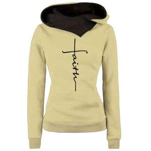Women Faith Embroidered Hoodie