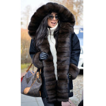 Load image into Gallery viewer, Women Parkas With Natural Fox Fur