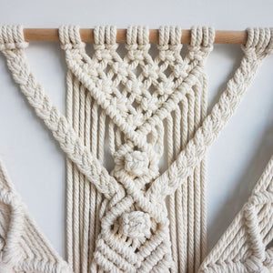 Macrame Wall Hanging Tapestry Wall Decor Woven Home Decoration 55X70cm
