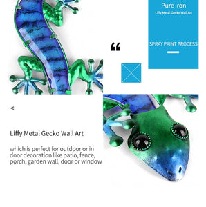 Metal Lizard Wall Art