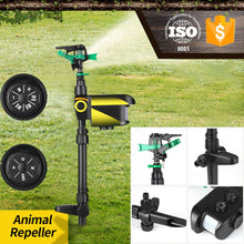 Load image into Gallery viewer, Solar Powered Garden Motion Sprinkler Activated Animal Repeller Scarecrow Animal Deterrent Watering Device Bird Repeller D30