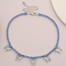 Load image into Gallery viewer, Crystal Butterfly Pendant Choker