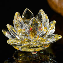 Load image into Gallery viewer, Quartz Crystal Lotus Flower  Crafts Glass Paperweight Ornaments Figurines Home Wedding Party Decor Gifts Souvenir