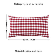 Load image into Gallery viewer, Checkered Plaid Throw Pillow Covers Decorative Christmas Cushion Covers Cotton Linen Pillow Case Home Decor