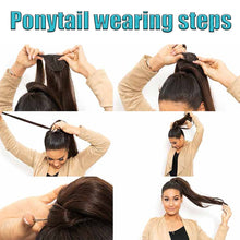 Load image into Gallery viewer, Long Straight Wrap Around Ponytail