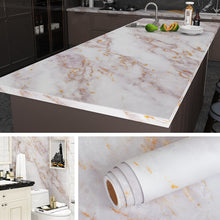 Load image into Gallery viewer, Waterproof Marble Self Adhesive Wallpaper Vinyl Film Wall Stickers Bathroom Kitchen Cupboard Room Decoration Sticky Paper Decal