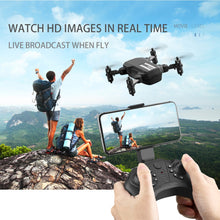 Load image into Gallery viewer, Mini Drone 4K 1080P HD Camera WiFi Fpv Air Pressure Altitude Hold Black And Gray Foldable Quadcopter RC Drone Toy