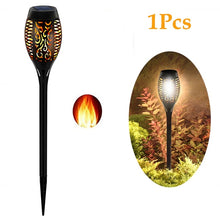 Load image into Gallery viewer, 12 , 8, 6, 4, 2, 1 Pcs Sets  LED Solar Flame Torch Light Flickering Waterproof Garden Lamp Decor Landscape Lawn Lamp Path Lighting Torch Outdoor Lights