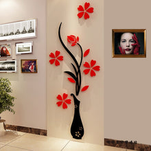 Load image into Gallery viewer, Butterfly Floral Stickers For Wall Modern Stickers Decoration 3D DIY Flower Shape Acrylic Wall Decal Living Room Decor Wallpaper