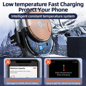 Qi Automatic Clamping 10W Wireless Charger Car Phone Holder Smart Infrared Sensor Air Vent Mount Mobile Phone Stand Hold