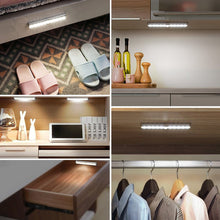 Load image into Gallery viewer, 6 10 24 40 60 LEDs Under Cabinet Night Light Motion Sensor Closet Light Kitchen Bedroom Lighting Wall Lamp With Magnetic Strip