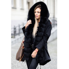 Load image into Gallery viewer, Real Fur Parka With Real Fox Fur Collar With rabbit fur liner