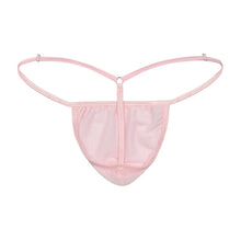 Load image into Gallery viewer, Men's Elegant G-string Pink Stretch Mesh Back