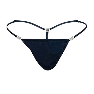 Men's Elite G-string Black Stretch Mesh Front