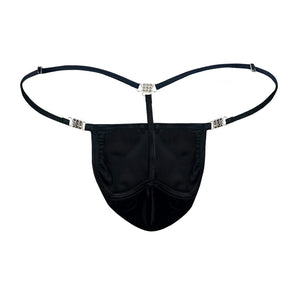 Men's Elite G-string Black Velvet Back