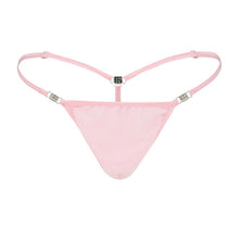 Load image into Gallery viewer, Men's Elite G-string Pink Stretch Mesh Front
