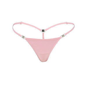 Women's Elite G-string Pink Cotton-Spandex Front