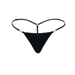 Women's Exquisite G-string Black Cotton-Spandex Back