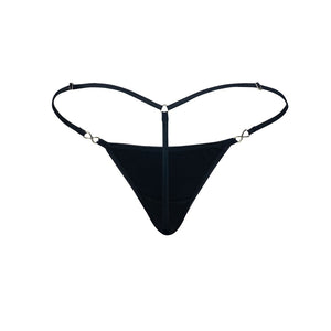 Women's Exquisite G-string Black Velvet Back